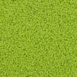 TOHO Round Seed Beads 15/0, Opaque Sour Apple, TR-15-44