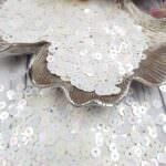 """Итальянские пайетки, плоские, белый, эффект """"Ориентал"""" #572, Andrea Bilics"""