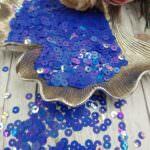 """Итальянские пайетки, плоские, синий, эффект """"Ориентал"""" #6233, Andrea Bilics"""