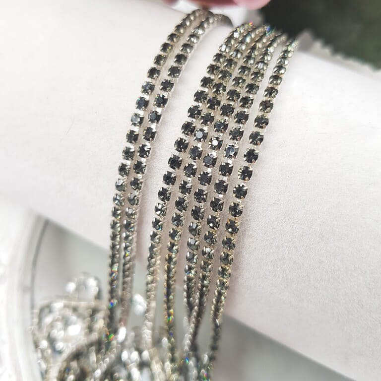 Same color cup chain, Black Diamond ss6, СС82
