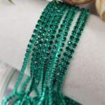 Same color Rhinestone Cup Chain, Mint Green Dark, SS6