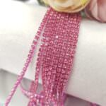 Same color Rhinestone Cup Chain, Pink, SS6