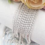 Same color Rhinestone Cup Chain, White Opal, SS6