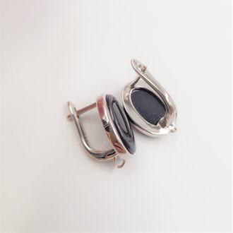 Latch Back Earring components Rhodoium EC064