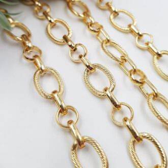 Anchor Chain Gold Plated 1 cm AC09-G