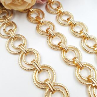 Double Anchor Chain Gold Plated 1.6 cm AC07-G