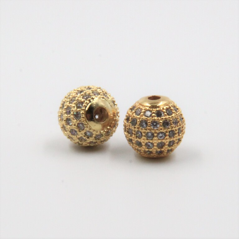 Crystal Rhinestones Charms 10mm Gold BC001G