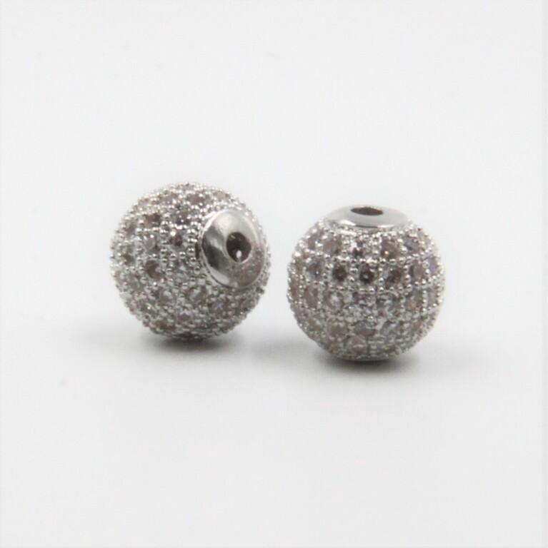 Crystal Rhinestones Charms 10mm Silver BC001S