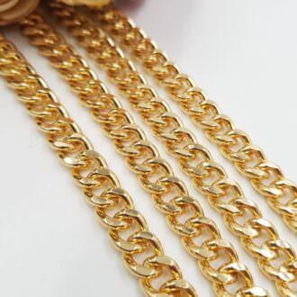 Curb Chain, Gold Plated 0.7cm AC01-G