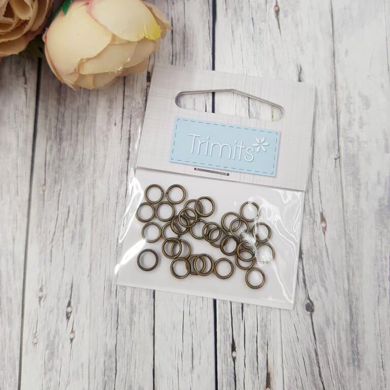 24944 Split Rings Antique 5mm 5 Packs of 30