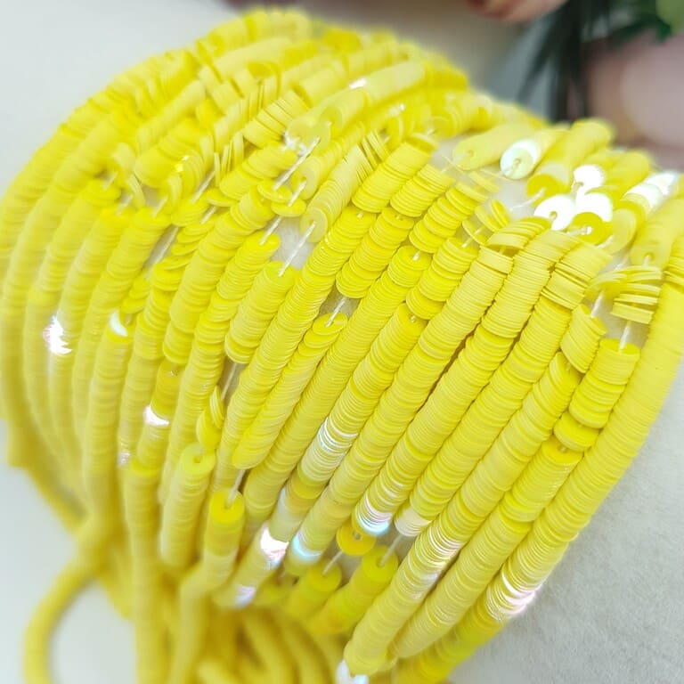 French Flat Sequins Paillettes Oriental Yellow (#5056) Sequins, 3 mm, Langlois-Martin (2)
