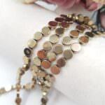 Гематитовые бусины круглой формы, Золото, 6 мм