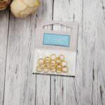 Соединительные кольца с золотым покрытием, 7 мм, Дулюкс качество, 20 шт