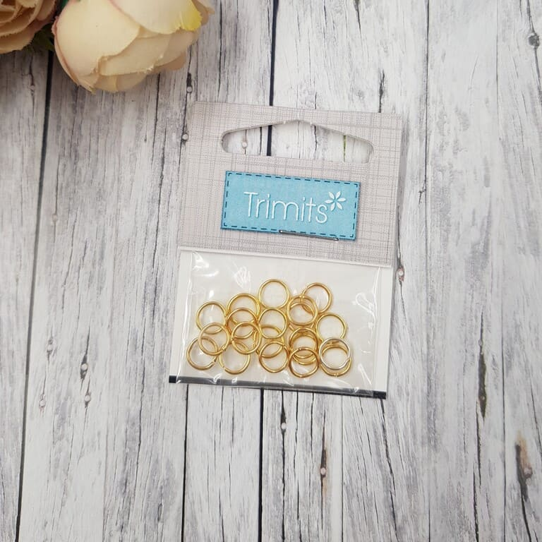 TDF30 Deluxe Jump Rings Gold Plated 7mm 3 Packs of 20