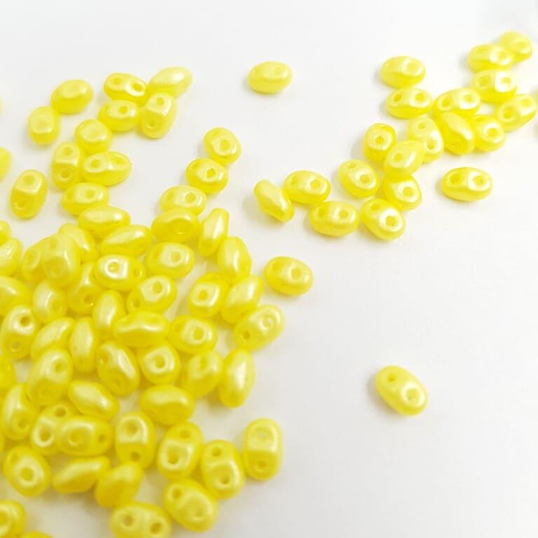 PB307-0204-24002AL MiniDuo 4 x 2.5mm (loose) Pearl Shine - Amber