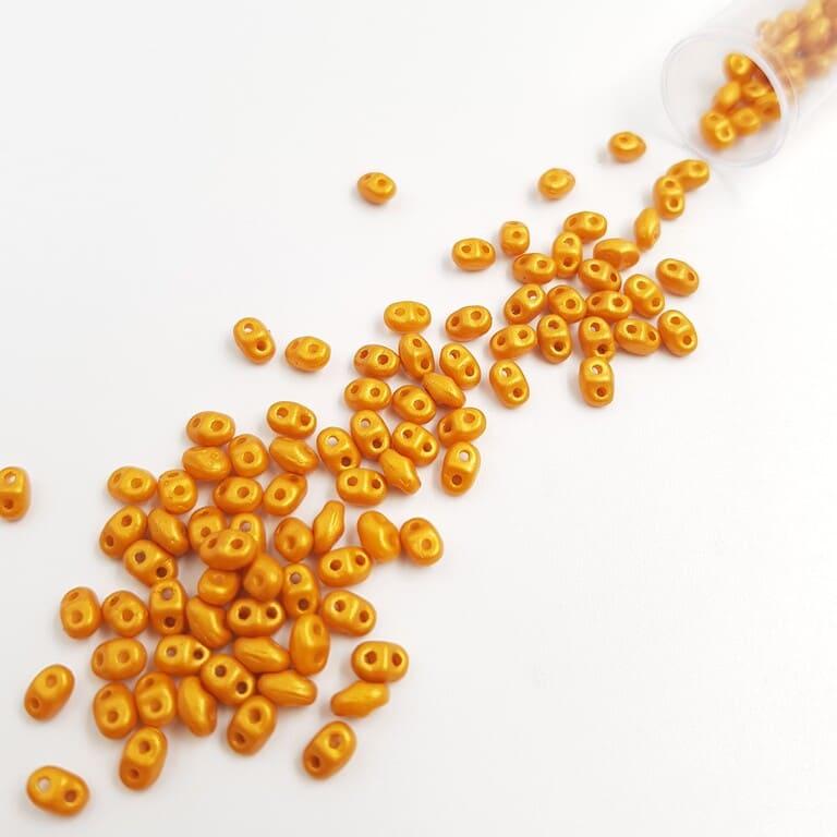 PB307-0204-24109AL MiniDuo 4 x 2.5mm (loose) Gold Shine - Orange
