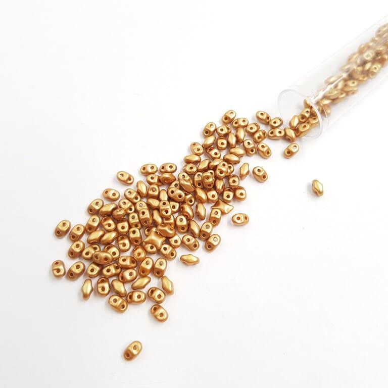 PB307-0204-25003AL MiniDuo 4 x 2.5mm (loose) Pearl Coat - Gold