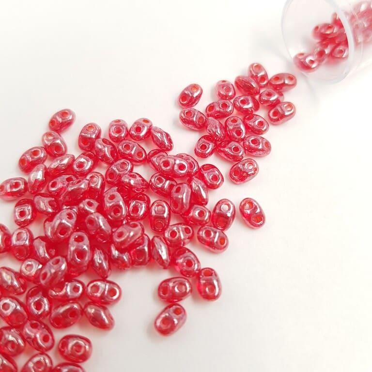 PB307-0204-L90080 MiniDuo 4 x 2.5mm (loose) Luster - Siam Ruby