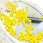 Fire Polished Czech Glass Beads: Opaque Yellow, 4 mm, #83120