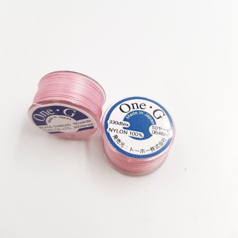 PT-50-5 TOHO One-G Thread 50 Yard Spool Pink