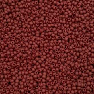 Toho seed beads Opaque-Frosted Oxblood TR-11-46F